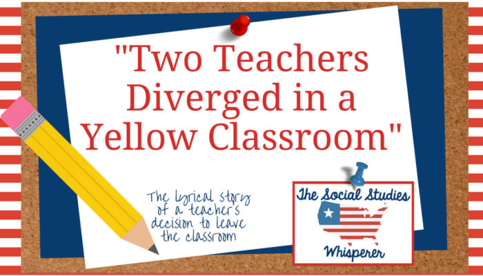 Two Teachers Diverged in A Yellow Classroom