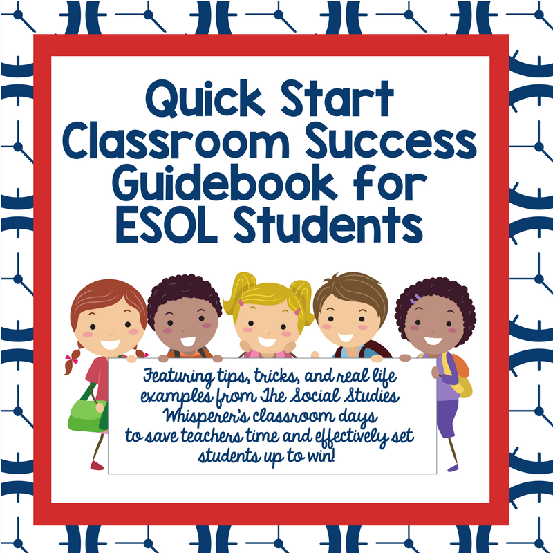 Quick Start Guide to Setting Up English Language Learners For Classroom Success! (1)